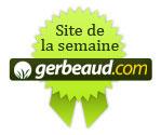 Sélectionné comme site du mois par Gerbeaud.com